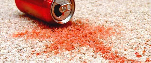 Soft Drink Stains on carpet